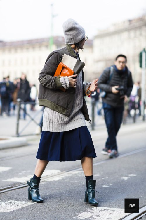 love the layers with an ankle boot, get the look