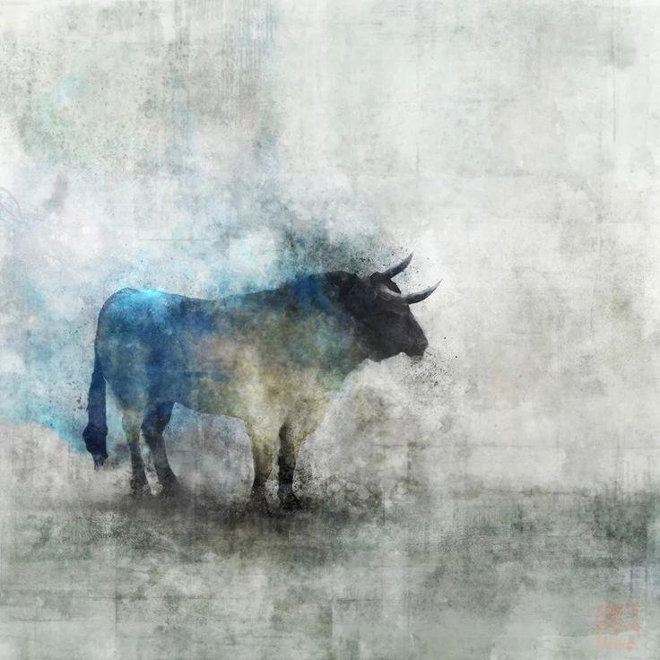 Foto: Toro blue. Ken Roko Ken Roko es un artista, nacido en Canada, especializado en las artes visuales que ha ido experimentando distintos estilos y temáticas. Esta es su visión del indiscutible protagonista de la tauromaquia. Mas de este autor enhttp://krokoart.tumblr.com/ #Toros