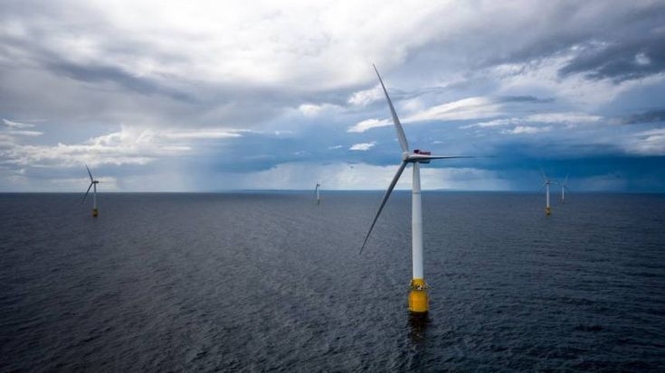 World's first floating wind farm in Scotland performing well beyond expectations -  hywind floating wind farm photo