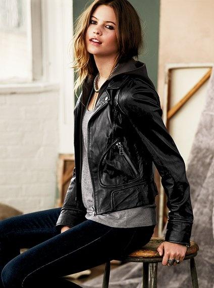 Best 25  Hooded leather jacket ideas on Pinterest   Women's ...