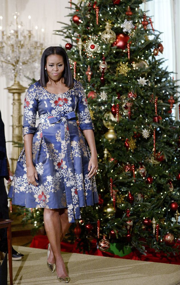 #FirstLady Of The United States Of America #MichelleObama hosts military families to the White House to view holiday decorations. November 29, 2016