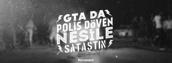 Typographic #Occupygezi memories by Oğuzcan Pelit, via Behance