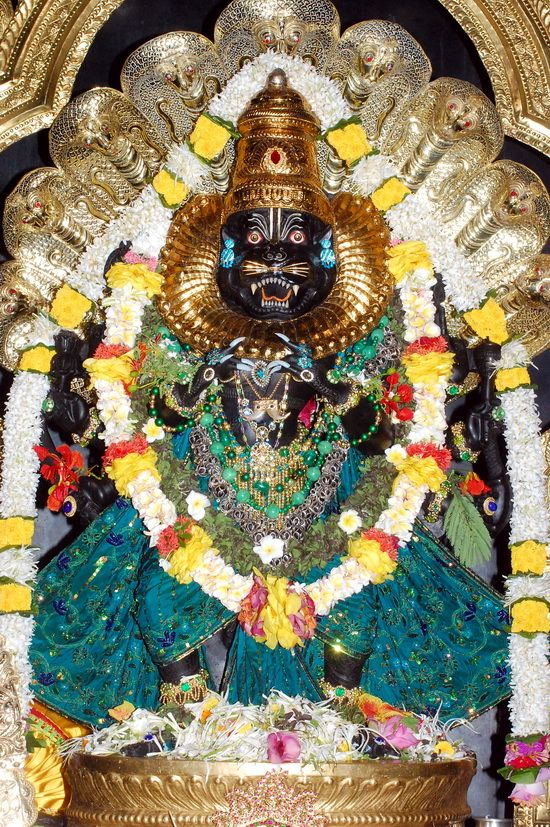 Lord Nrsimhadeva's darshan with nails & a story by Lakshman Das. | Sri Mayapur