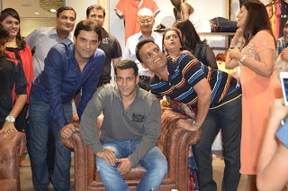 Salman Khan At Being Human Shore..