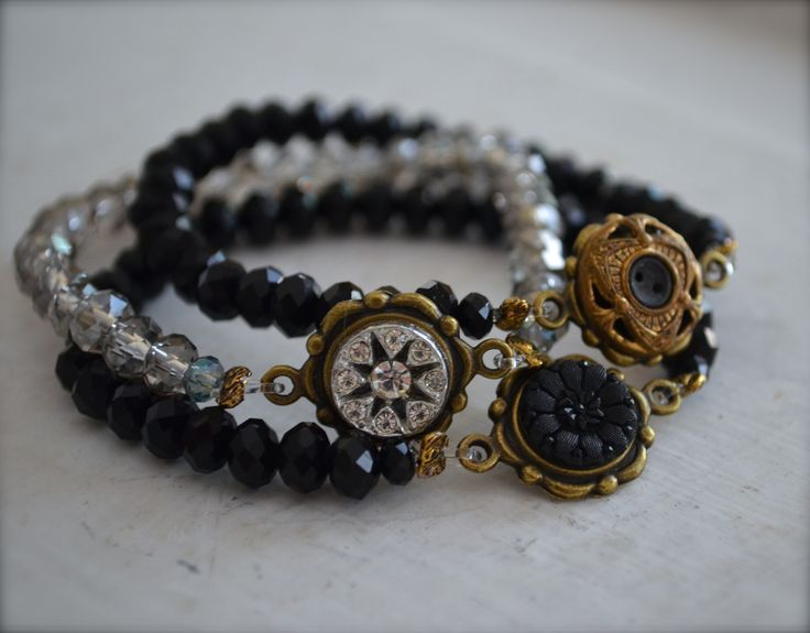 Button stretch bracelets