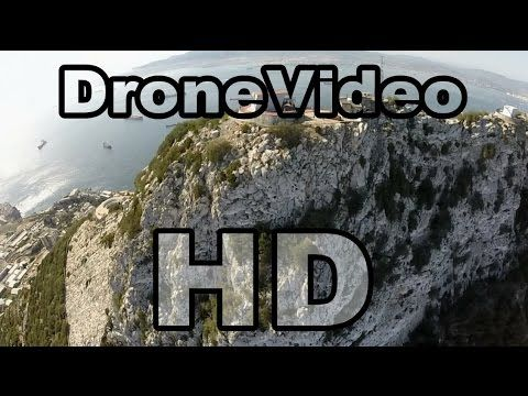 Amazing Gibraltar (UK) with Drone multicopter HD!