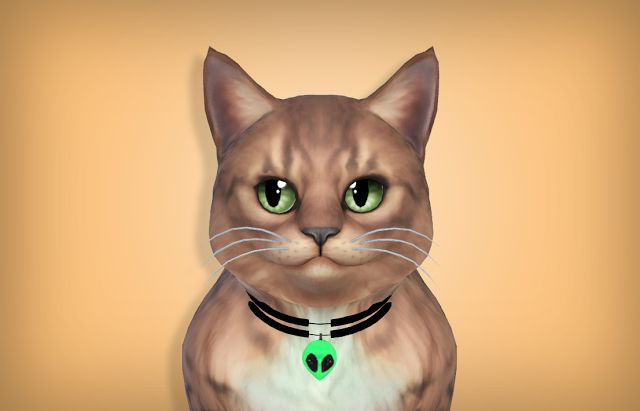 Alien Collar For Cats By Meow Sims Pets Sims 4 Pets Sims 4