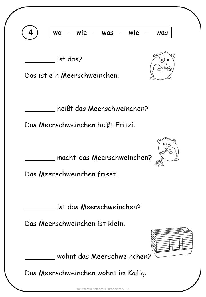 German - pactice for beginners
