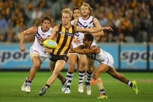 A simple training accident will cost rising Geelong star Josh Caddy eight weeks of the AFL with a broken foot.