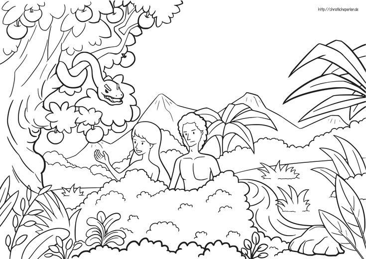 adam und eva ausmalbilder ausmalbilder  coloring pages
