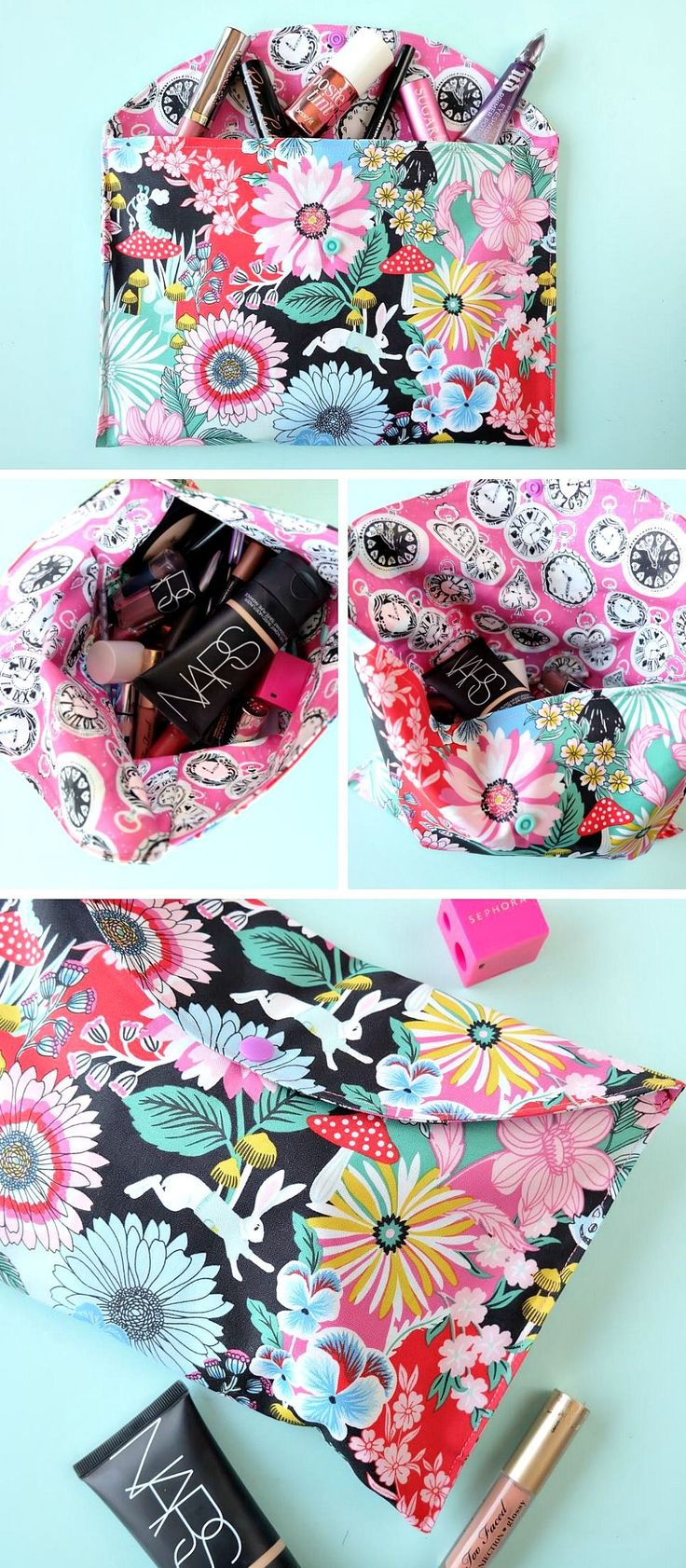 Sewing crafts for teens - 20 Minute Makeup Bag Sewing Tutorial Perfect For Teens And Beginners