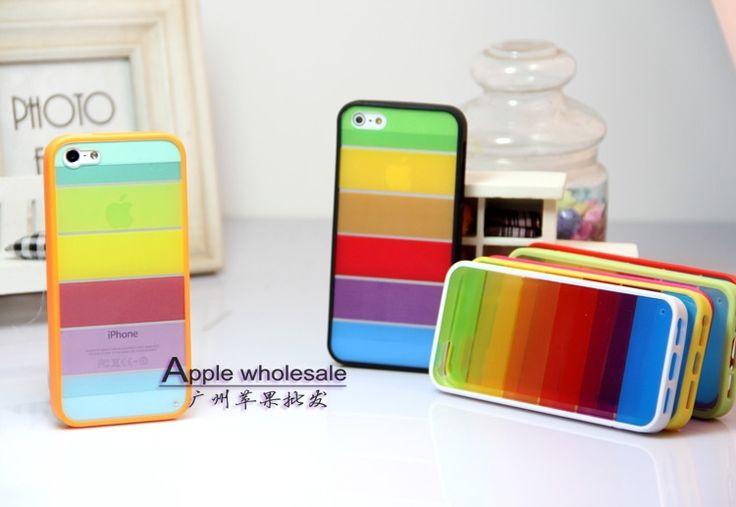 Дешевое 1 шт. радуга дизайн обложки / чехлы для iphone 4 4S чехол для iphone для Phone4S защита оболочки, Купить Качество Сумки и чехлы для телефонов непосредственно из китайских фирмах-поставщиках: