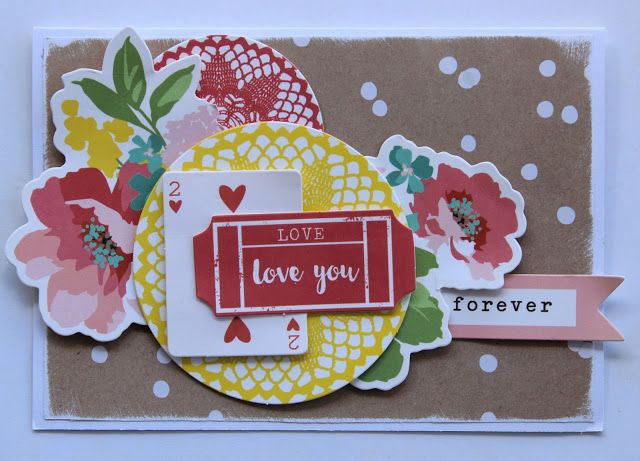 Kaisercraft DT Finders Keepers - Love You Forever Card