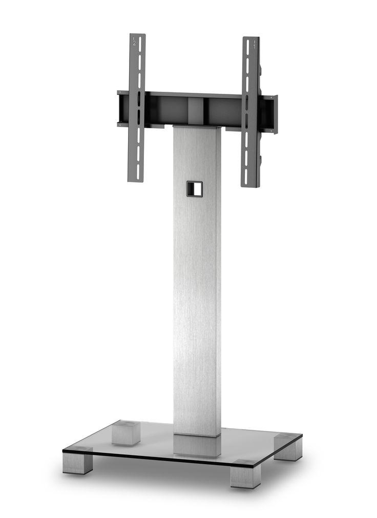 ELBE PL-2510-C-INX MUEBLE SOPORTE PARA TELEVISIÓN  - Mueble soporte para televisión.  - Para pantallas de hasta 50 pulgadas. - Peso soporte hasta 50 kg.  - Materiales: Cristal, aluminio y soporte de hierro. - Colores: Cristal negro con columna trasera y patas INOX. - (An-Al-Pr): 65 x 116 x 50 cm. - Peso: 17.7 kg.
