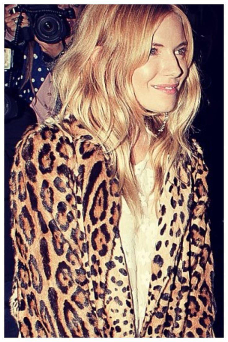 Sienna Miller wears Dolce & Gabbana Fur Coat