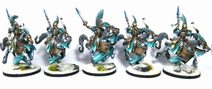 Warhammer Age of Sigmar   Aelfs   Ellyrian Reavers #warhammer #ageofsigmar #aos #sigmar #wh #whfb #gw #gamesworkshop #wellofeternity #miniatures #wargaming #hobby #fantasy