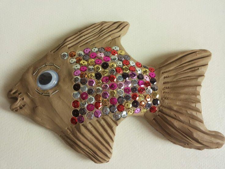 Glittervis/vis van klei