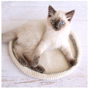 Crochet Cat Bed | FaveCrafts.com
