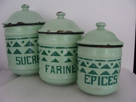 French Kitchen Canisters
