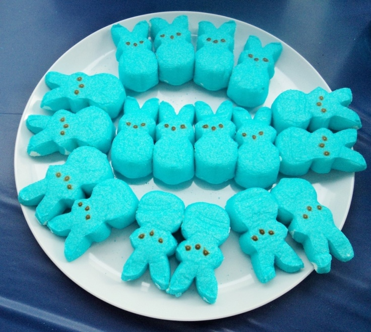 Boy Baby Shower Game! How Many Peeps Can You Fit In Your Mouth?