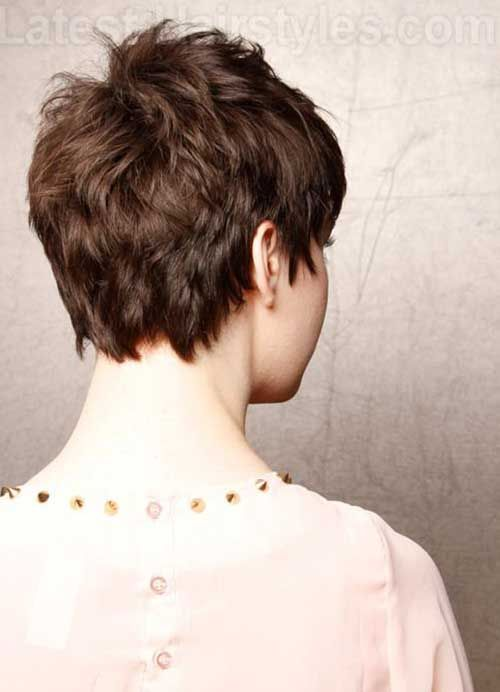 Choppy Pixie Cut Back View