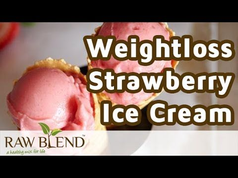 How to Make a Weight Loss Strawberry Ice Cream Recipe in a Vitamix Blend...