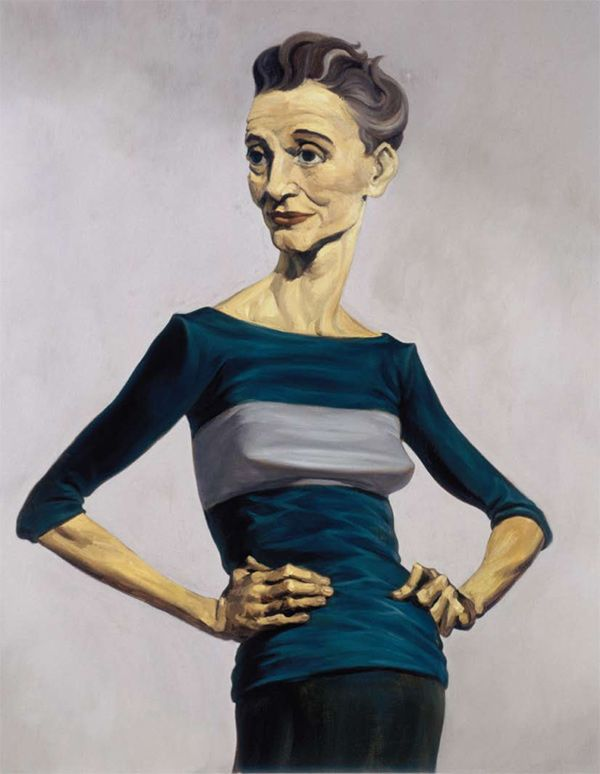 "John Currin  Ms. Omni 1993  Oil on canvas   122 x 96.5 cm    48 x 38""     http://www.saatchi-gallery.co.uk/aipe/john_currin.htm"