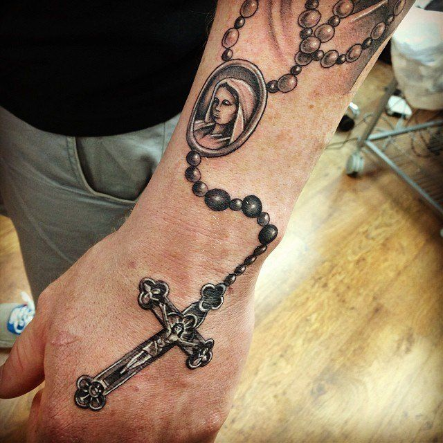 Rosary Bead Tattoo Holy