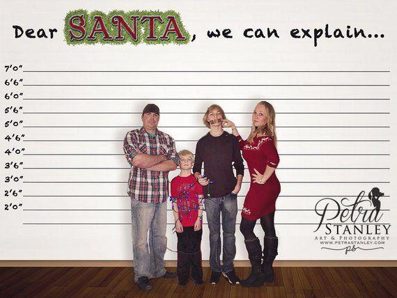 Dear Santa We Can Explain Digital Photo Background Christmas Etsy Funny Holiday Cards Dear Santa Digital Photo