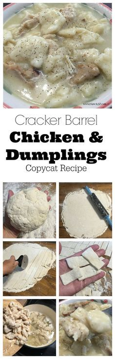 Cracker Barrel Chicken and Dumplings Copycat Recipe - iSaveA2Z.com