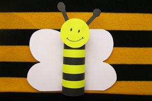 Biene aus Papier mit Kindern basteln