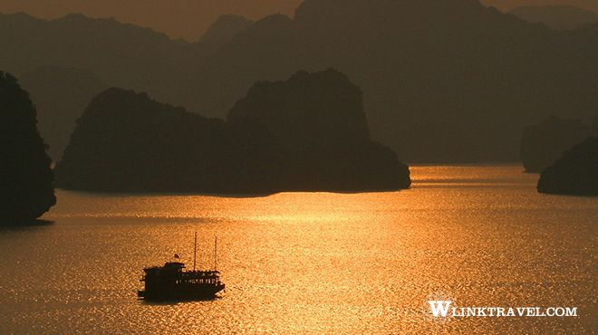 Halong Bay in twilight