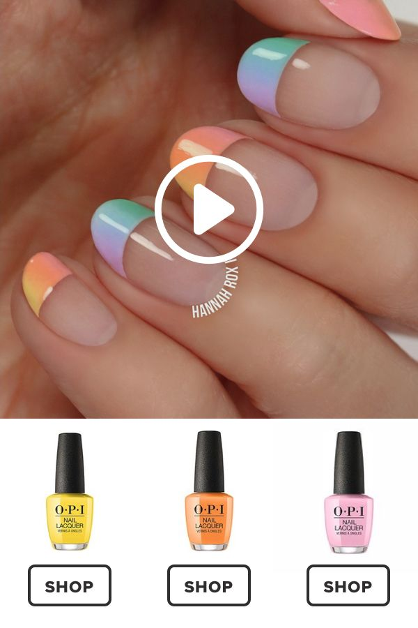 How to Get a Pastel Ombre Manicure #darbysmart #beauty #nailpolish #nailart #nai…