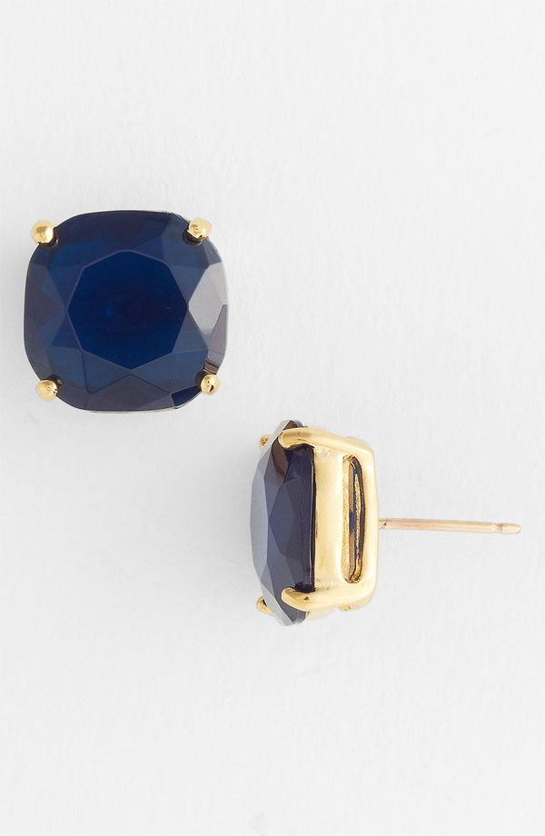 small square stud earrings, navy -- Kate Spade
