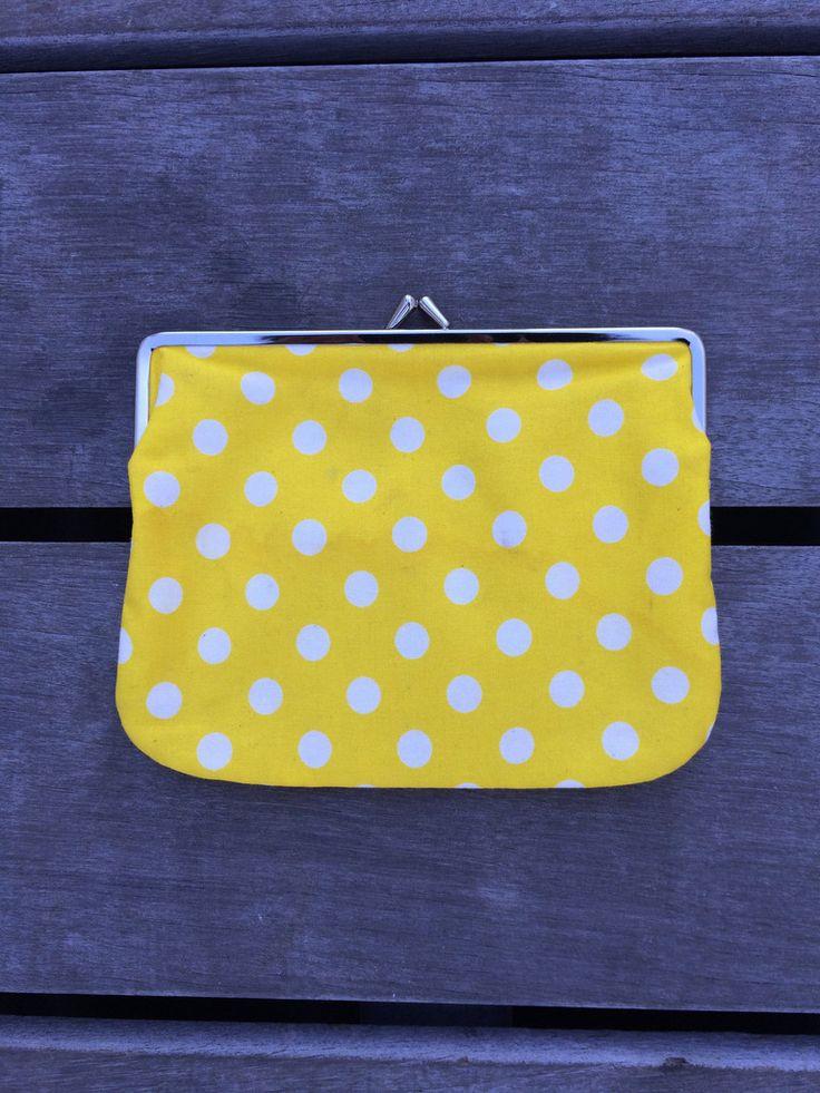 Marimekko Yellow & White Polka Dot Purse