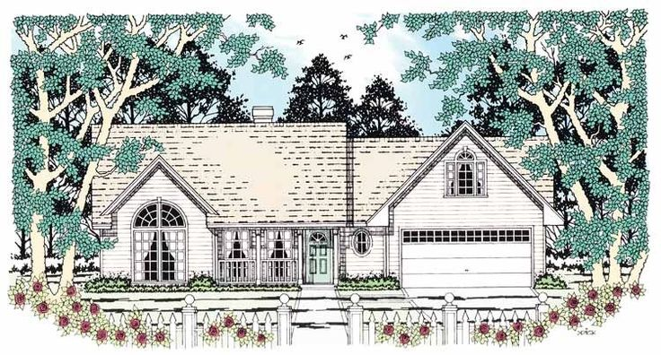 Country Style House Plan 3 Beds 2 Baths 1360 Sq/Ft Plan