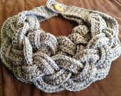 Items similar to Crochet Double Braided Cowl - Light Gray on Etsy