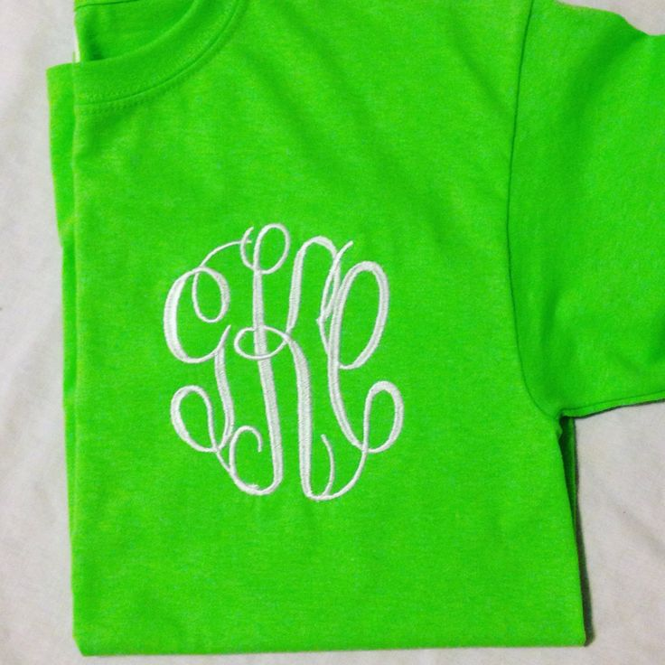 Lime Green Monogrammed Tee - Starting @ $15 https://www.etsy.com/listing/265381007/lime-green-monogrammed-t-shirt-adult-and