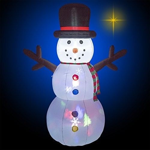 Christmas Flashing Snowman Airblown Inflatable 8 Ft Yard Lighted Xmas Decor #easy_shopping08