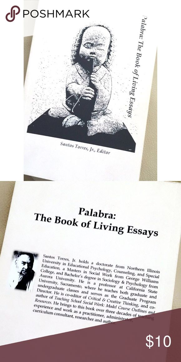 📚 A Sociology Book Like new   |   Palabra: The Book of Living Essays by Santos Torres   |   Sierra College  |  Text Other
