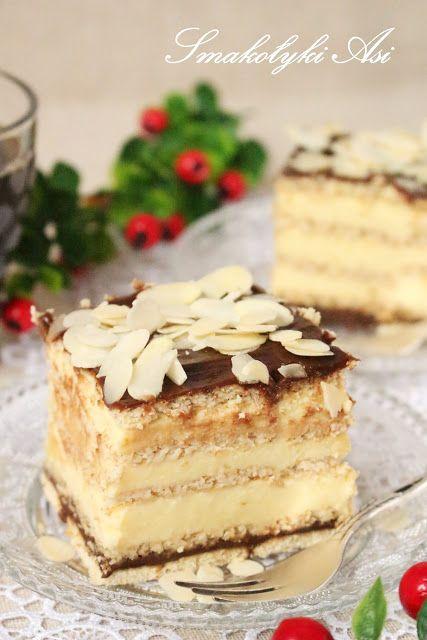Smakołyki Asi: Sernik gotowany z czekoladowym kajmakiem (na herbatnikach)