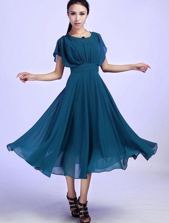 Prom chiffon dress by xiaolizi on Etsy