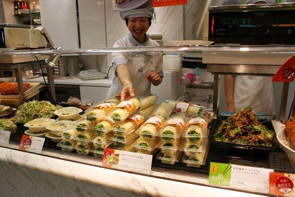 Shrimp and Avocado Salad Eho-maki Setsubun Depachika: Shopping for Eho-maki and Sardines at Japanese Department Store Food Court