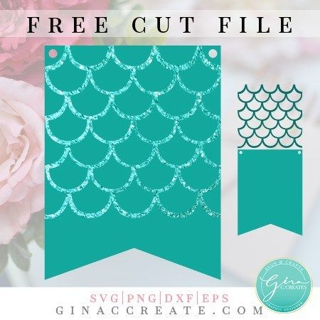 Mermaid Scale Party Banner Free Svg Cutting Files Free