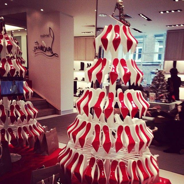 christian louboutin shoe christmas tree