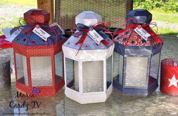 """Perfect paper lanterns with LED candles for any """"Fourth of July"""" party!"""