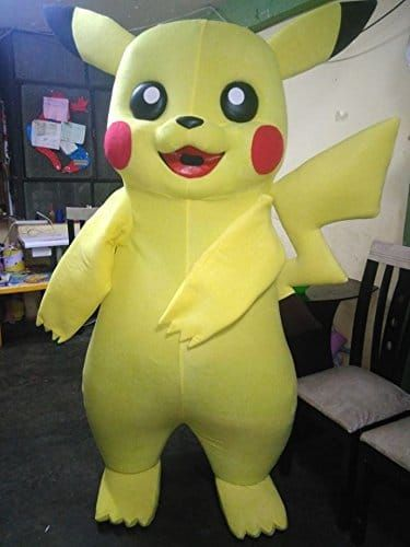 Pokemon Go Pikachu Mascot Costume Adult Character Costume - https://www.pokemongorilla.com/pokemon-go-pikachu-mascot-costume-adult-character-costume/