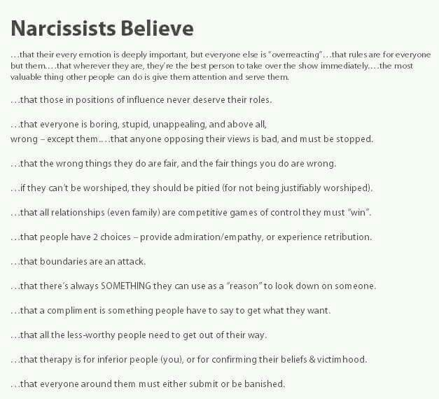 Signs and traits of narcissists, crazymakers, emotional manipulators, unsafe people