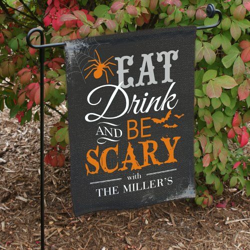 eat drink be scary personalized halloween double fall decorationshalloween decorationsgarden