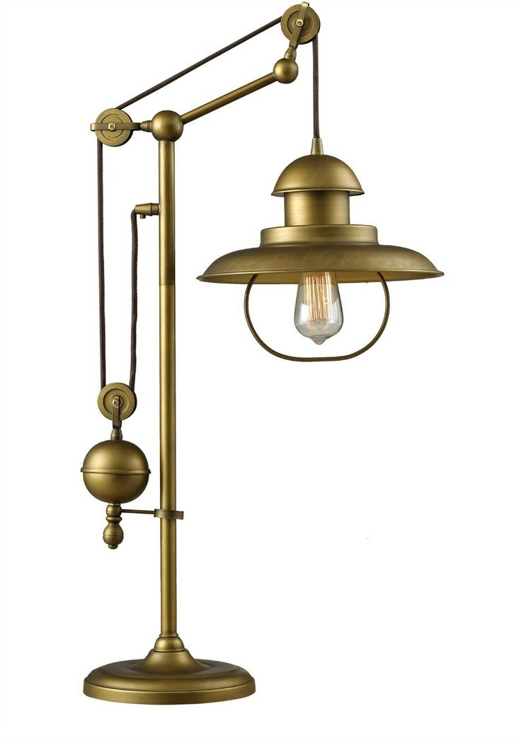 Antique brass table lamp i like the soft sheen of the metal find